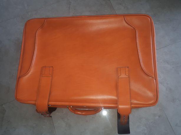Walizka retro pomarańczowa duża