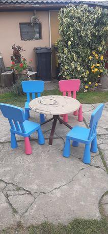 Stół ogrodowy i krzesła za dwa ptasie mleczka