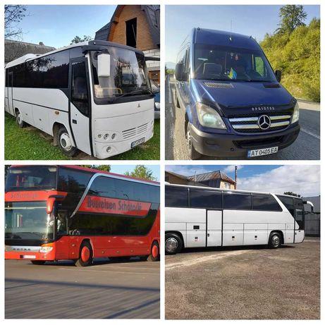 Замовлення автобусів на 18-35-53-78 місць. Пасажирські перевезення