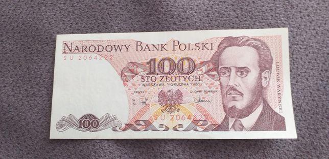 Banknot 100 zł  z 1988r