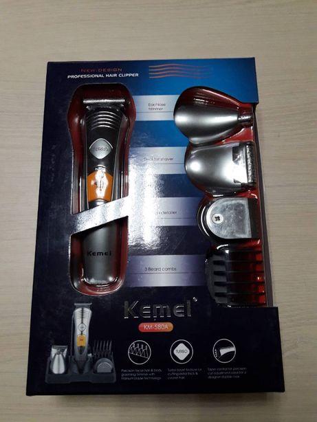 Машинка для стрижки волос Kemei-580 триммер, бритва мужская