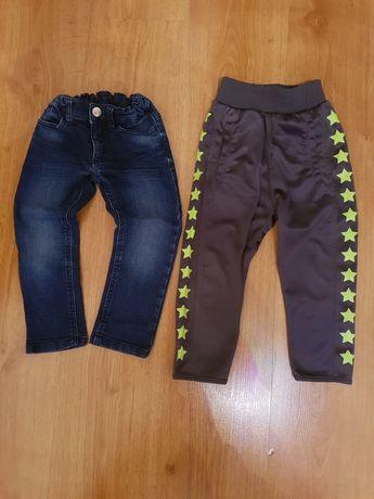 Spodnie 2 sztuki 14 zł. Rozmiar 98cm.