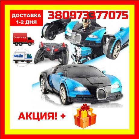 АКЦИЯ Машинка Трансформер Bugatti Robot Car Size 12 Бугатти ОПТ/РОЗН