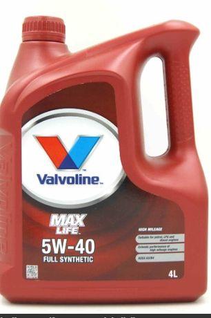 Olej silnikowy VALVOLINE MAX LIFE 5W40 4L zapytaj o filtr, Zamów