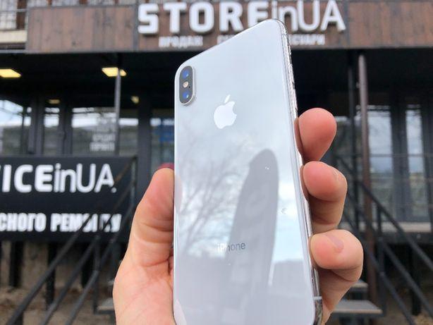 Идеал iPhone X 64GB Silver Neverlock. Гарантия 3 мес! Рассрочка