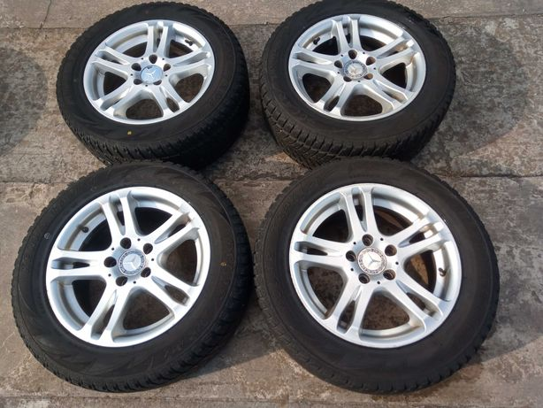 Mercedes koła felgi 7,5Jx16 ET45 5x112 opony 225/55 R16