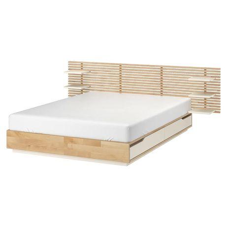 Łóżko z zagłówkiem Mandal IKEA