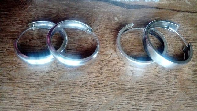 Kolczyki srebrne szerokie koła 925