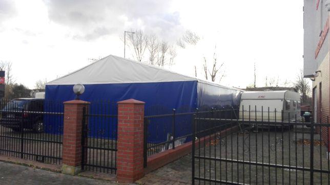 Hala namiotowa, konstrukcja stalowa i plandeka 96m2