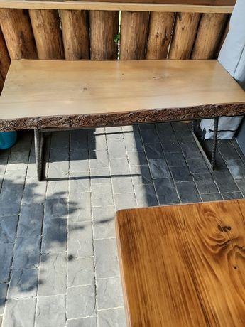 Ława , stół drewniany, drewniana z drewna