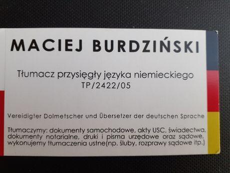 Tłumacz przysięgły j. niemieckiego