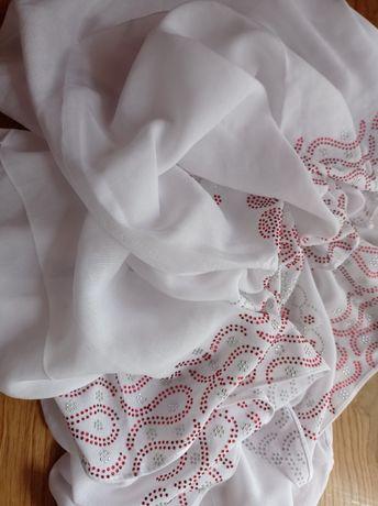 Летний белый палантин хиджаб хитжаб