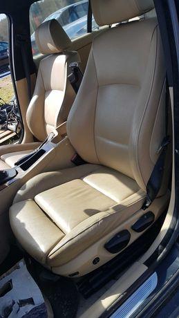 Fotele skora sporty BMW E90 kremowe sportsitze komplet