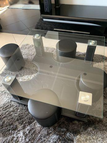 Mesa de centro com 4 banquinhos