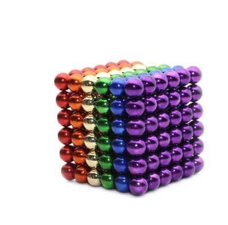 Разноцветный неокуб 216 шариков. 5мм Магнитные шарики. Топ Конструктор