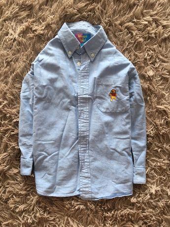 Котоновая рубашка на 5-6 лет
