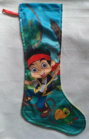 Новогодний детский носок для подарков Пират Джейк, Disney оригинал
