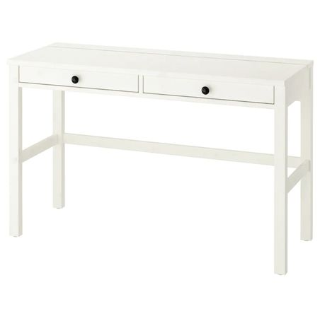 Biurko Hemnes Nowe drewno biała bejca Kurier Ikea