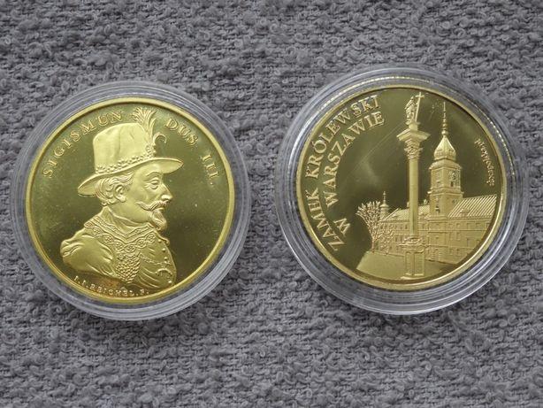 Zygmunt III Waza + Zamek Królewski W-wa _Złota Polska medal NOWY