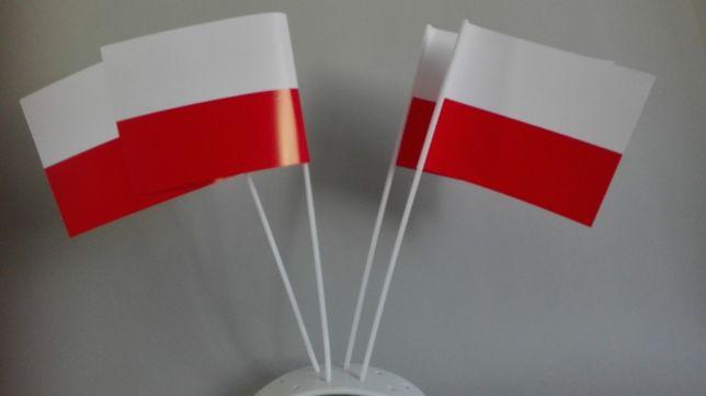 Chorągiewki papierowe polskie