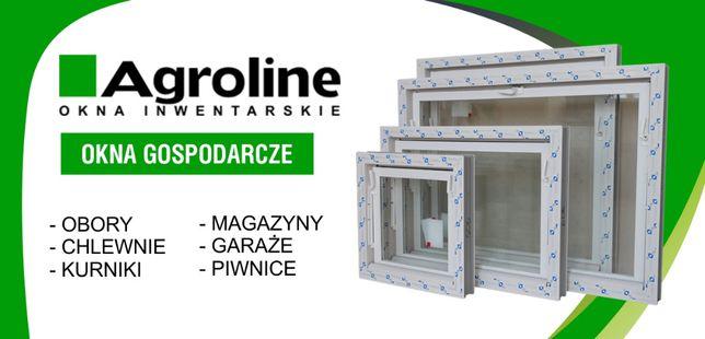 Okna gospodarcze inwentarskie 135x50 bez metalu całe plastik
