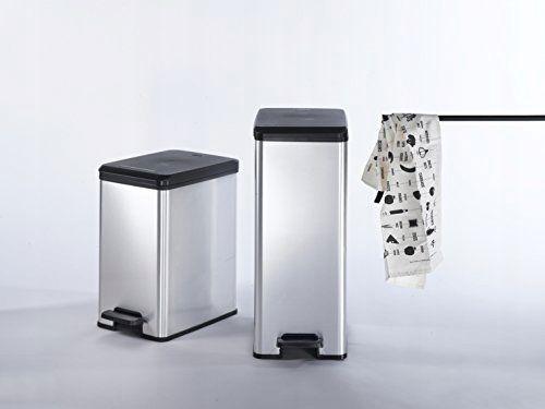 Kosz na śmieci CURVER SLIM Srebrny 30 L