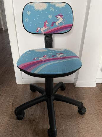 Krzesło obrotowe biurowe dziecięce
