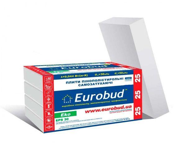 Продам пінопласт (пинопласт)Євробуд 25 та 35 плотності