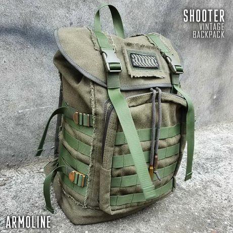 Городской винтажный милитари рюкзак Shooter Armoline 20л Olive
