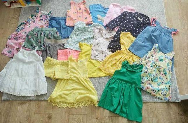 paczka ubranek letnich dla dziewczynki 98-104