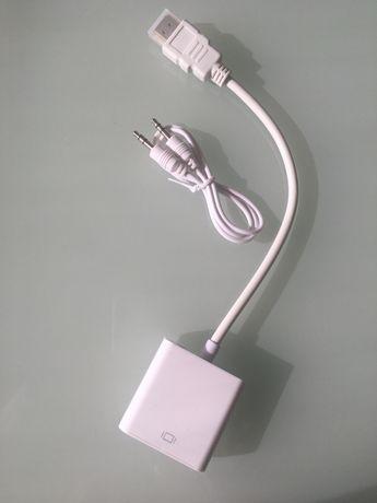 Качественный преобразователь HDMI в VGA Full HD.