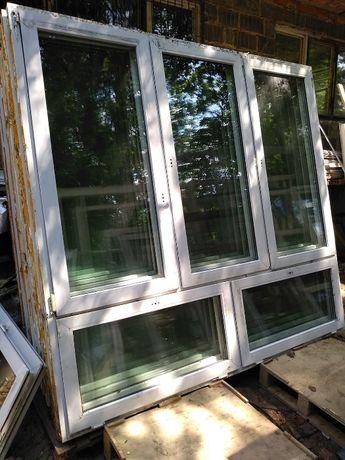 Okno PCV 2430 x 2320 mm 243 x 232 cm Witryna szklarnia magazyn hala