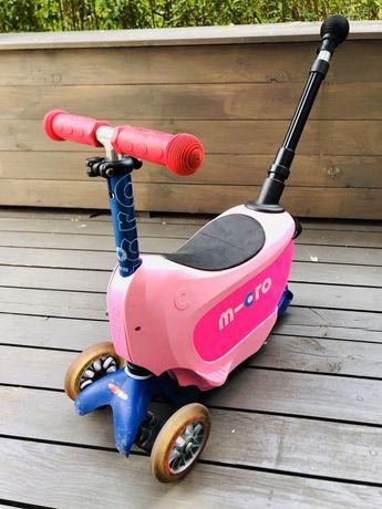 Jeździk i Hulajnoga Micro Mini2go Deluxe Plus różowa