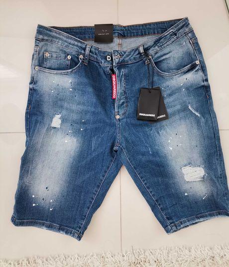 Spodnie krótkie jeansowe Dsquared ICON jakość Premium