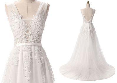 suknia ślubna cywilny perełki kolor ivory 40, 42, 44