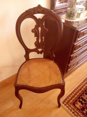 Cadeira madeira e verga