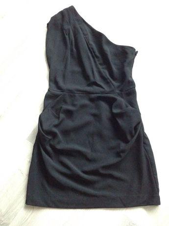 Sukienka czarna na jedno ramie 40-42 Mohito