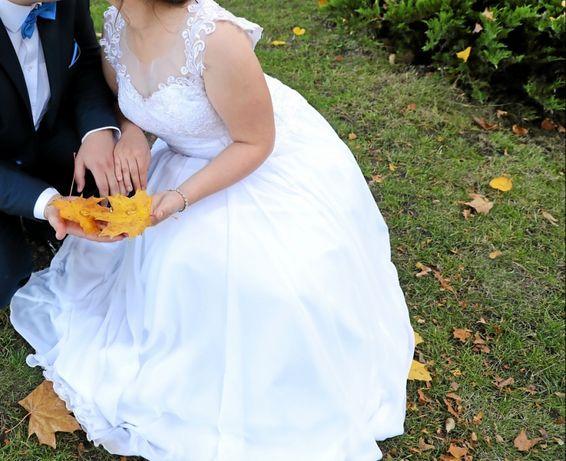 Muślinowa suknia ślubna 38-40