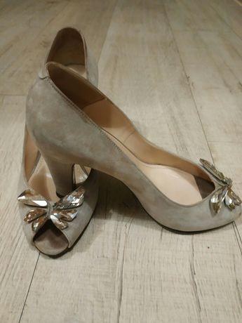 Туфли, босоножки. Замш.Италия.