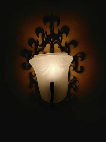PRL kinkiet, lampa na ścianę, metaloplastyka