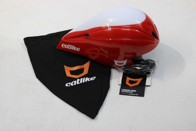 Capacete TT/Triatlo Catlike Chrono Aero novo