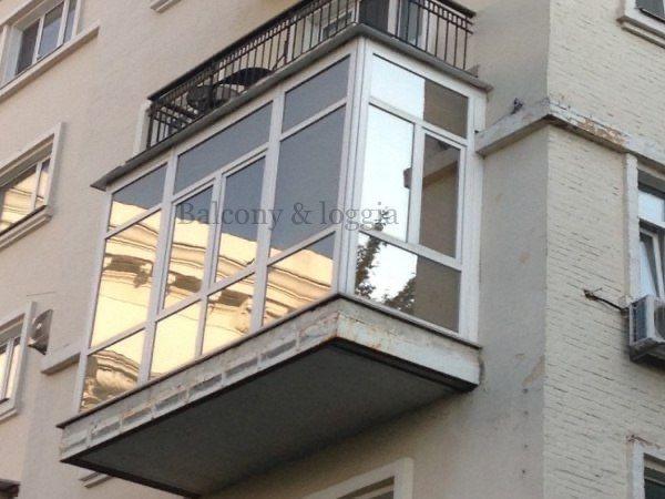 Ремонт и остекление балконов Под ключ Обшивка Утепление Вынос Крыши