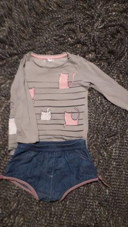 футболка,реглан и легкие джинсовые шортики 98-104