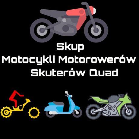 Skup motorowerów Skuterów quady skup aut przyczep małopolska moto skup