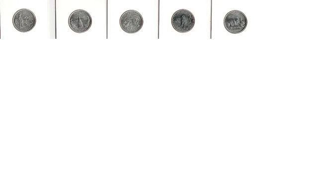 25 cent USA 1999 do 2008 w holderach Nr.100