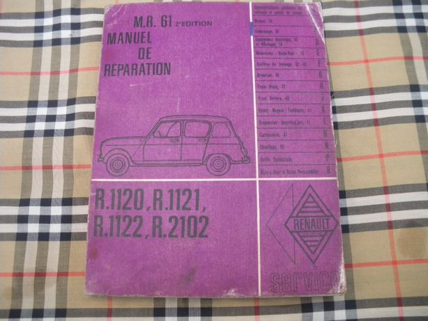 Renault 4 L - Manual de oficina/Reparação