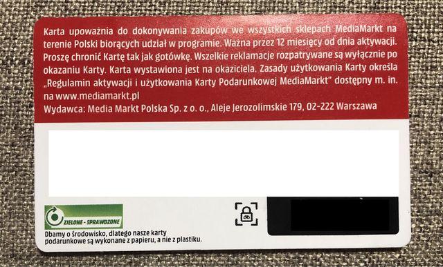 Karta podarunkowa MediaMarkt 50 zł