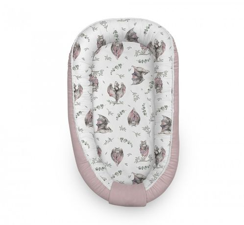 Kokon niemowlęcy - GNIAZDO 70x35 cm Bats - sepia rose