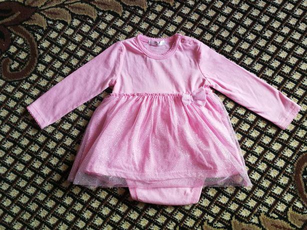 Sukienki różowe dla bliźniaczek (bliźniaczki) 74