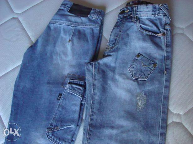 Lote de dois pares de calças de ganga menino 8 anos